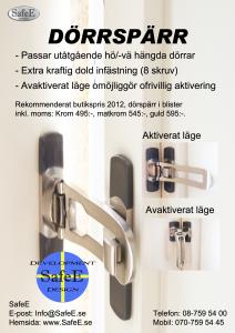 Infoblad dörrspärr