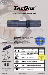 Infosheet TacOne Tactical Flashlight