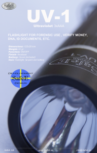 Infosheet UV-1 Ultraviolet Flashlight